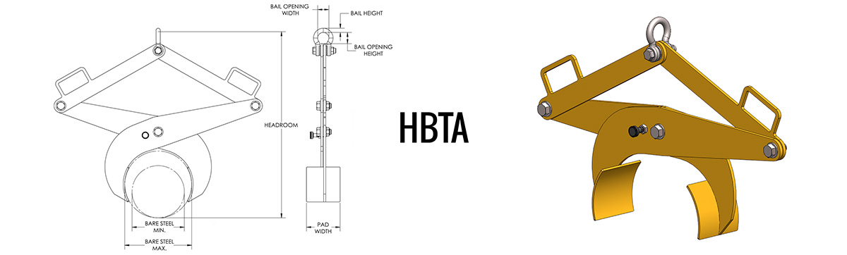 HBTA - Bar Tong Adjustable Dimensions