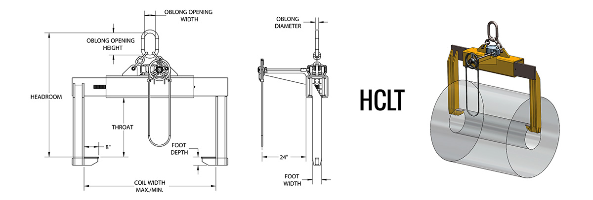 HCLT - Telescopic 2-Sided Coil Lifter