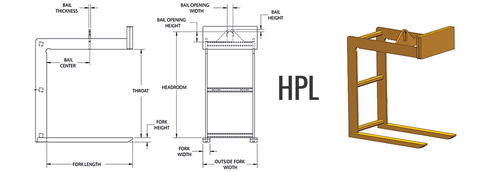 HPL - Fixed Fork Pallet Lifter Dimensions