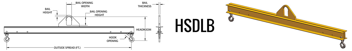 HSDLB - Standard Duty Lifting Beam