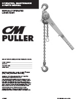 CM 640 Puller Lever Hoist Manual