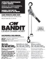 CM Bandit Lever Hoist Manual