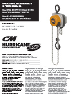 CM Hurricane 360° Hoist Manual