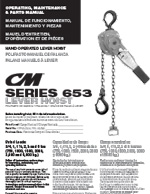 CM Series 653 Lever Chain Hoist Manual