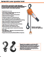 Part No 4267 with Load Limiter 3 Ton CM Series 640 Puller 20 Lift Lever Chain Hoist