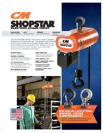 CM ShopStar Electric Hoist Brochure