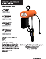 CM ShopStar Electric Hoist Manual