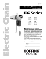 Coffing EC Hoist Manual