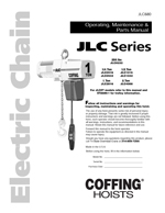 Coffing JLC/JLCV/JLCMT Hoist Manual