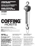 Coffing LHH Hand Chain Hoist Manual