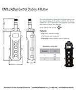 CM LodeStar 4-Button Control Station Spec Sheet