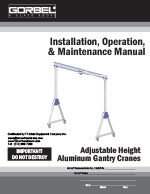 Gorbel Aluminum Gantry Crane Manual