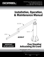 Gorbel Articulating Jib Manuals