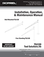 Tool Balancer Jib Cranes Manual