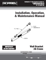Gorbel WB100 I-Beam Jib Crane Manual