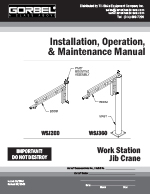 Gorbel Work Station Jib Crane Manual