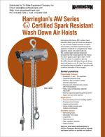 Harrington AW Air Chain Hoist Brochure