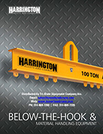 Harrington Below the Hook Material Handling Equipment Brochure