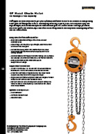 Harrington CF Hand Chain Hoist Specs