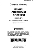 Harrington CF Hand Chain Hoist Manual