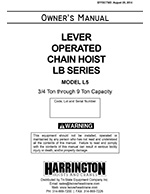 Harrington LB Lever Hoist Manual