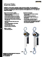 Harrington LX Lever Hoist Specs