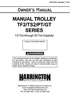 Harrington PT and GT Series Trolley Manual