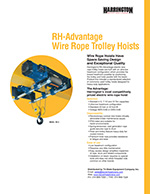 Harrington RH-A Series Wire Rope Hoist Brochure