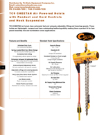 Harrington TCS Air Chain Hoist Brochure