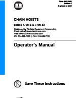 IR ARO 7700 Series Air Hoist Manual