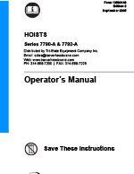 IR ARO 7790 Series Air Hoist Manual