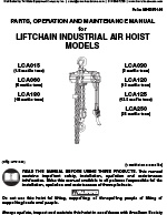 IR Liftchain Air Hoist Manual