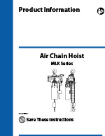 IR MLK Series Air Hoist Manual