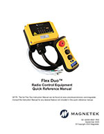 Flex Duo Wireless Radio Control Quick Reference Manual
