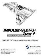 Magnetek Impulse G+/VG+ Series 4 VFD Interface Card Manual
