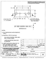 SUSPA Movotec CB Cylinders Large Mounting Bracket Drawing