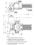 SUSPA Movotec Motor Driven Electric Pump Drawing