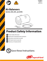 Zimmerman Series Pneumatic Balancers Safety Info
