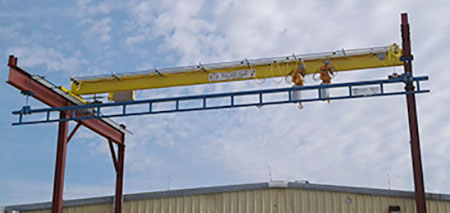 Dock Loading Crane with Built in Fall Protection