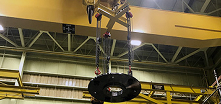 Custom Application for Lifting 20,000lb Discs onto a Rotor