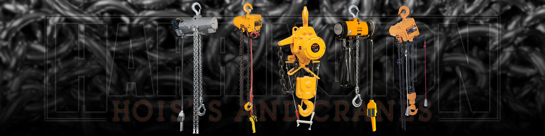 Harrington Pneumatic Chain Hoists