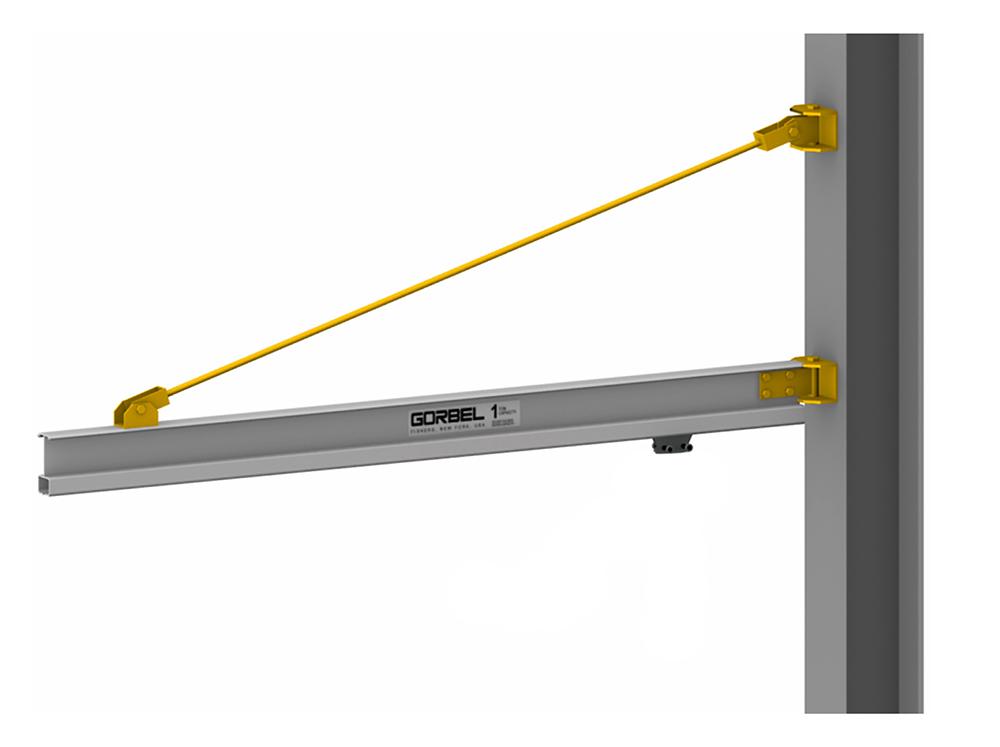 Gorbel AL100 Aluminum Wall Bracket Jib Crane with Column
