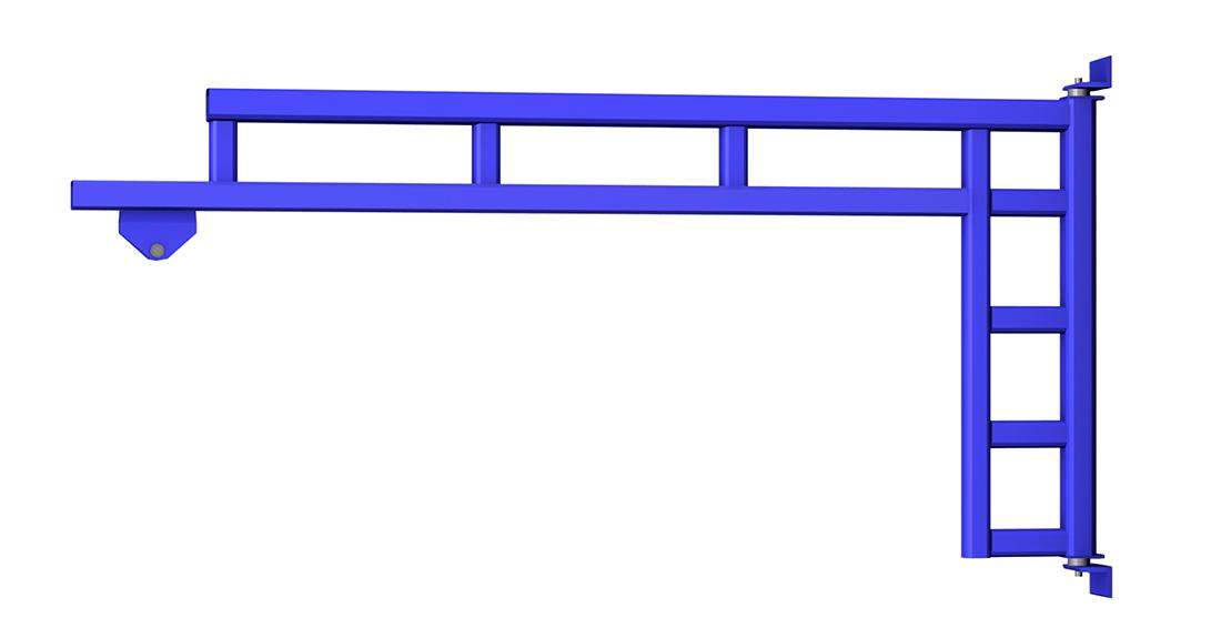 Gorbel WSJ200 Wall Mounted Work Station Jib Crane