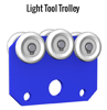 Gorbel Enclosed Track Light Tool Trolley