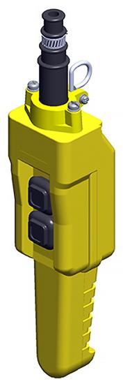 Conductix, 80 Series 2-Button Pistol Grip Pendant, Single Speed, Part No XA-COB81PB