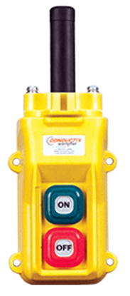 Conductix, 80 Series 2-Button Pendant, With Momentary On/Off, Part No XA-34212