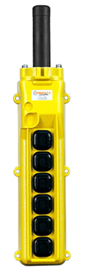 Conductix, 80 Series 6-Button Pendant, All Single Speed, Part No XA-34232