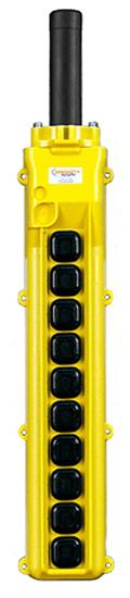 Conductix, 80 Series 10-Button Pendant, All Single Speed, Part No XA-34250