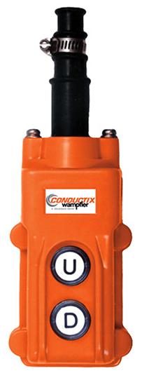 Conductix 60 Series 2-Button Pendant, Single Speed, Part No XA-COB61
