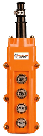 Conductix 60 Series 4-Button Pendant, Single Speed, Part No XA-COB62